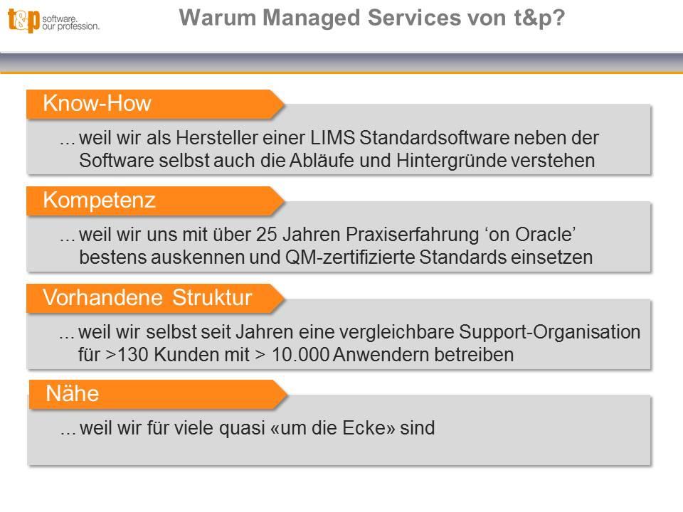 Warum Managed Services von t&p?